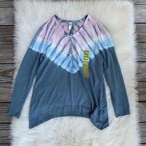 NWT GreenTea Tie Dye Pullover Long Sleeve Top